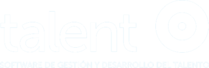 Talent logo en blanco